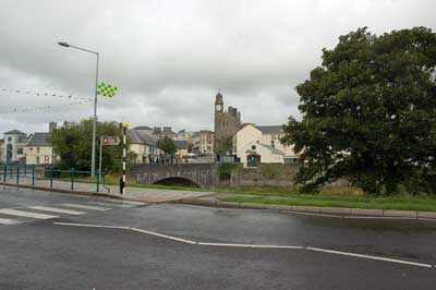 Photograph of main Street Ballyshannon across Erne Bridge