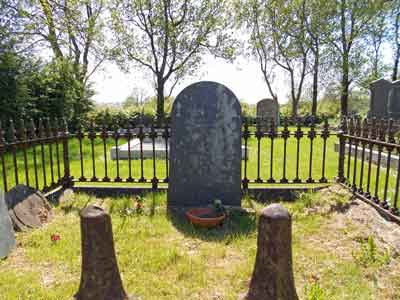 Photograph of McWilliam grave in Freeduff Presbyterian Church