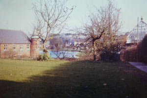 Photo of Orange Lodge & Peter's Lake from Holly Lodge